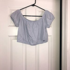 light blue never worn hollister crop top